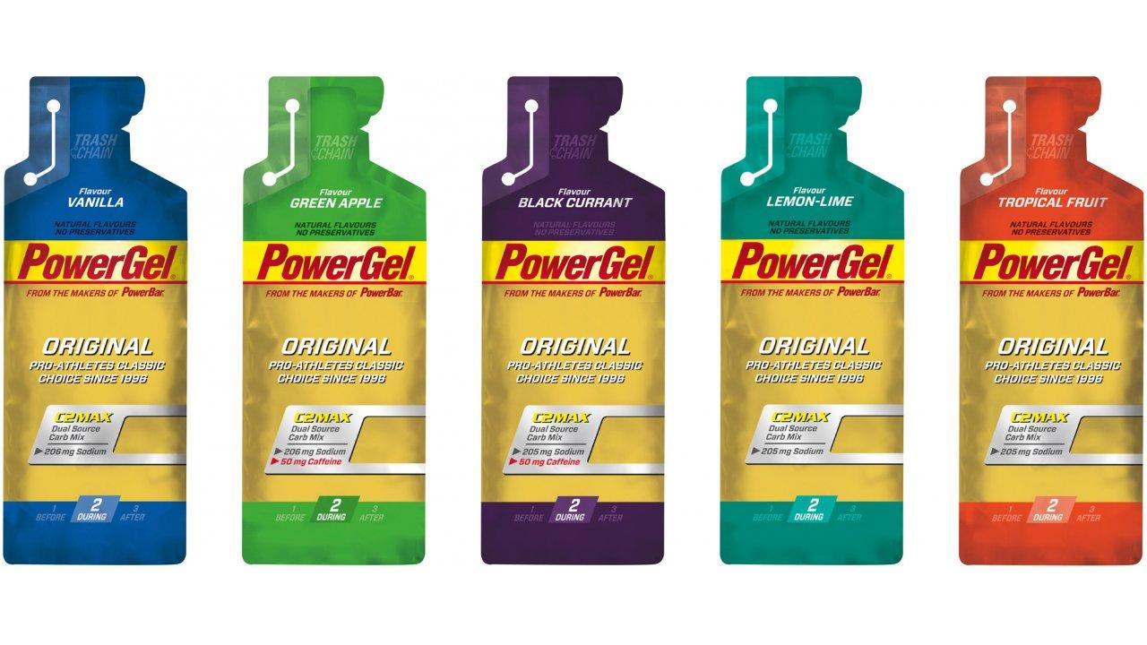 PowerBar PowerGel Assorted 24 Pack With Free Gift