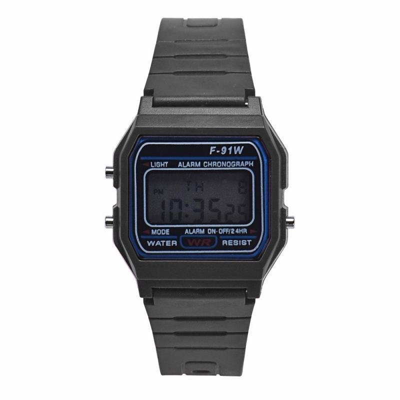 World Deal-Men Girl LED Digital Round Rubber Quartz Sport Fashion Waterproof Wrist Watch BK Malaysia