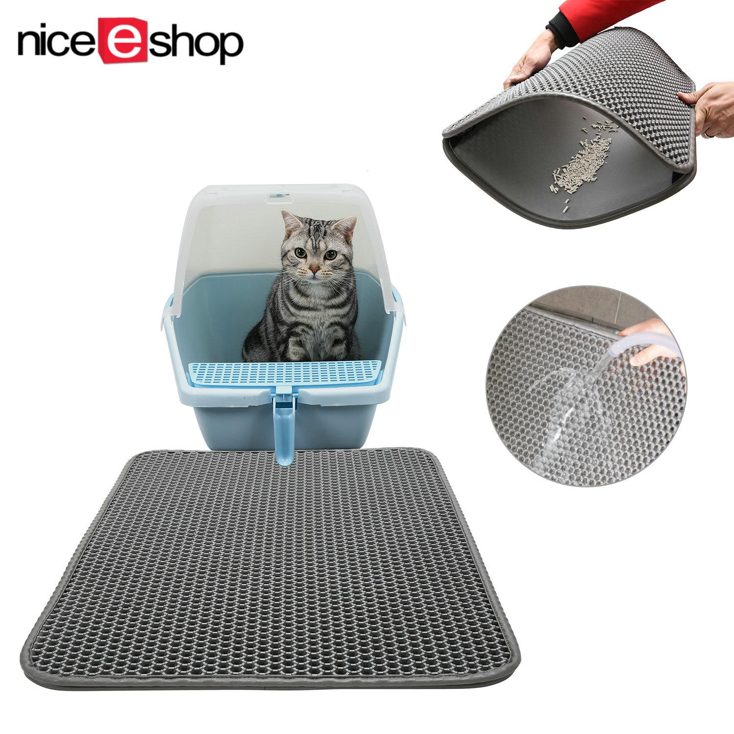 Niceeshop Waterproof Cat Litter Mat Double Layer Honeycomb Cat Feeding Mat Litter Trapping Size 40X50Cm Intl Promo Code