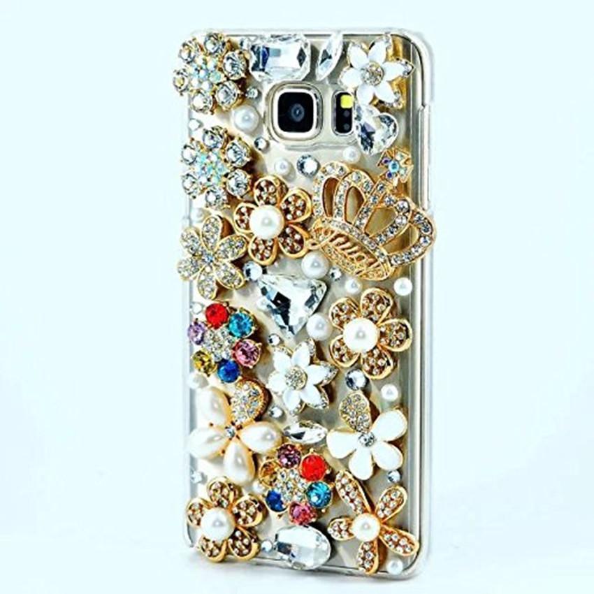 BLING Berlian Imitasi Kristal Berlian Mahkota Lembut Belakang Telepon Case Sarung untuk ZTE Pedang V9 Vita Sarung-Internasional