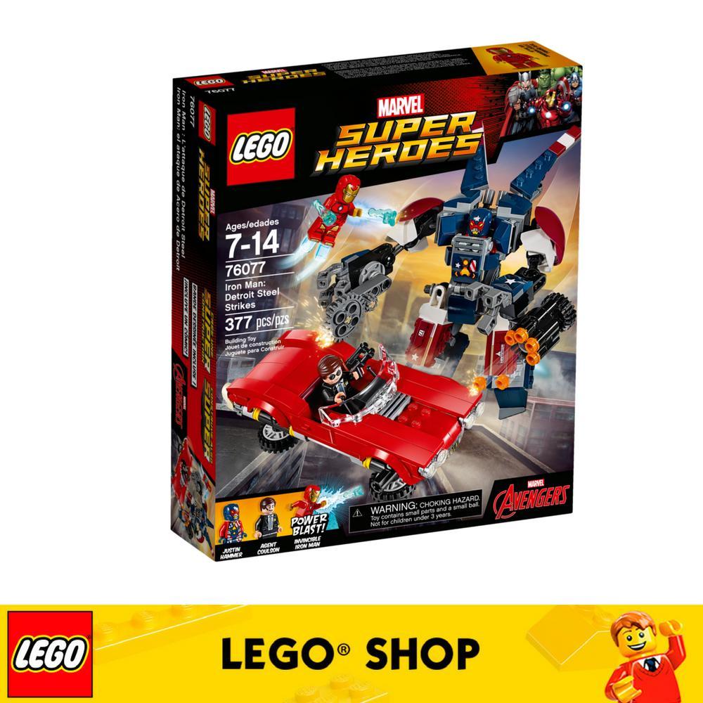 Buy Lego® Super Heroes Iron Man Detroit Steel Strikes 76077 Online Singapore