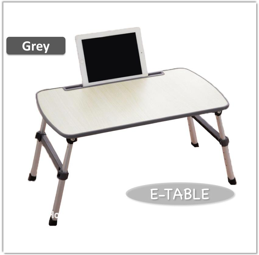 Grey Foldable Bed Table Compact Light Weight Movable Portable Small Size Laptop Stand Desk Pc Notebook Study Bookshelf On Bed Gift Present Coupon