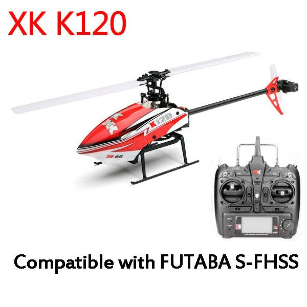 FY XK K120 Shuttle 6CH Brushless 3D 6G System RC Helicopter RTF/BNF