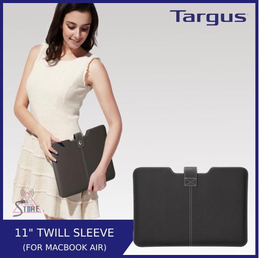 Sale Targus 11 Aerial Sleeve Macbook Twill Pu In Jet Black Targus Online