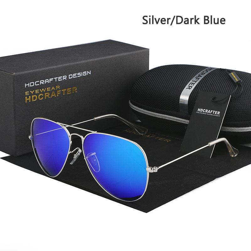 Hdcrafter Kacamata Penerbang Polarisasi Pria Wanita Klasik Oval Aviador  Kacamata Merek Desainer Oculos Polarizado dari Matahari f2f4c473a6