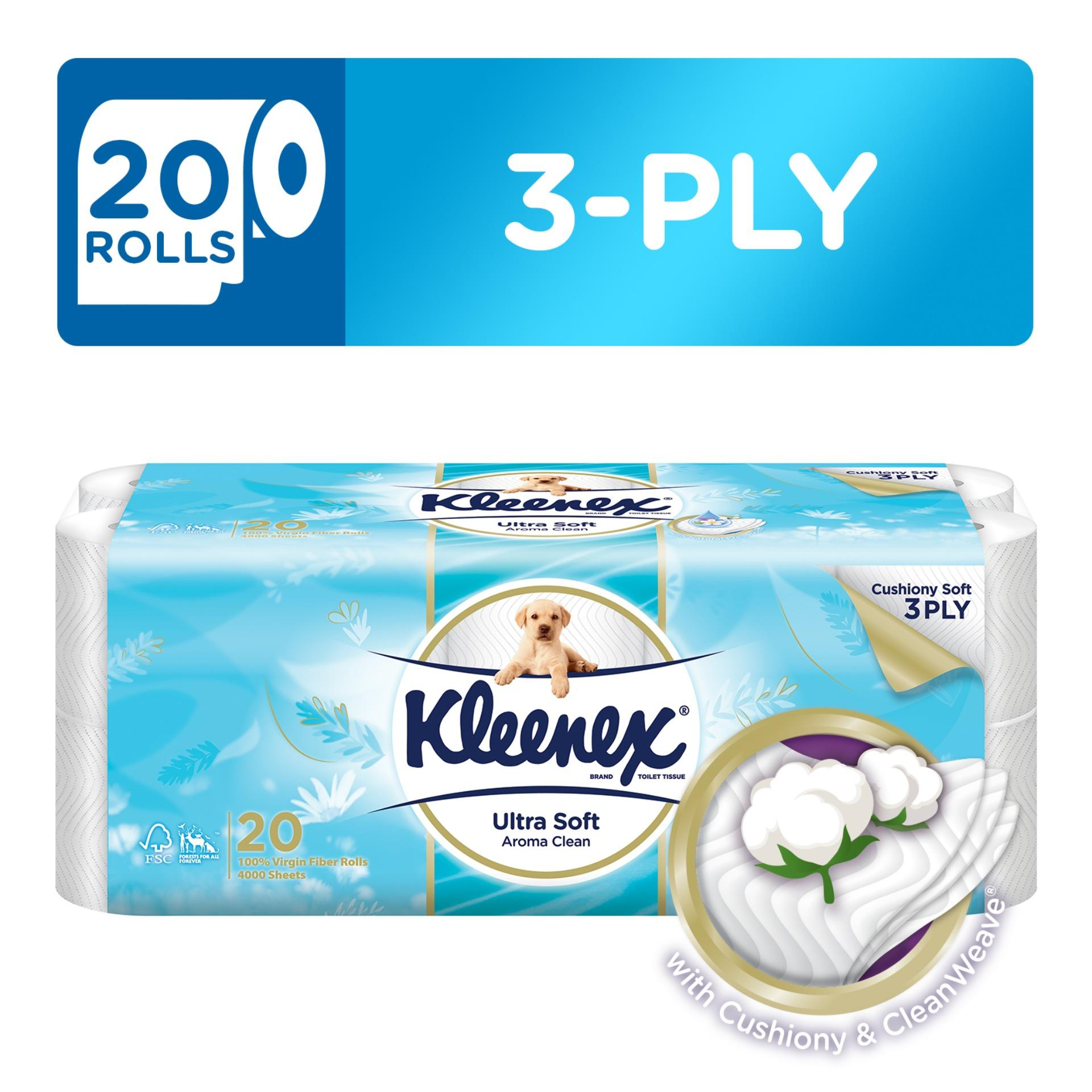 Compare Kleenex Clean Care Bath Tissue Fresh Scent 20X200Sheets Prices
