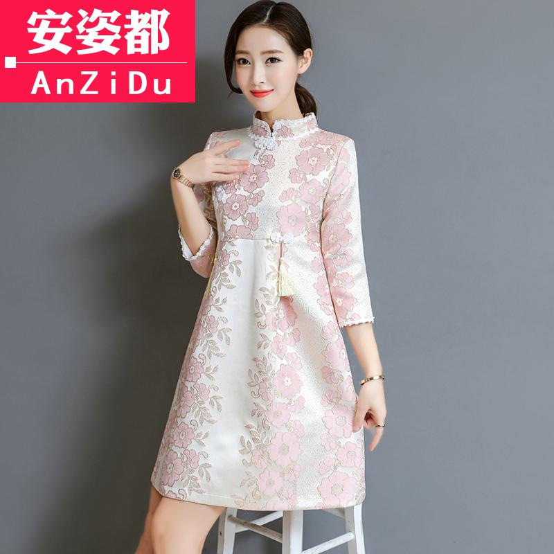 Musim semi rok cheongsam 2018 model baru Musim semi dan musim panas gaya  Tiongkok baju wanita 65f415e309