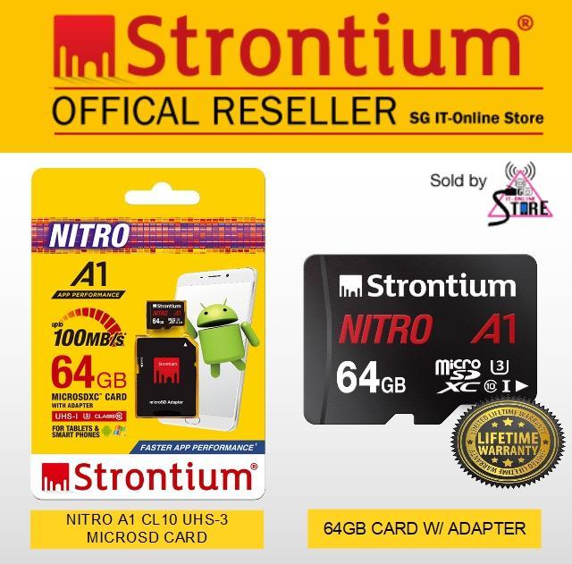 Strontium Nitro A1 100Mb S C10 Uhs 3 64Gb W Sd Adapter Sale
