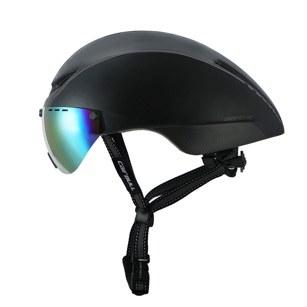 c60c584b2b4 W-Toy Cycling Helmet Racing Bike Safety Helmet with Fashion Goggles  Mountain Road Bicycle Helmet