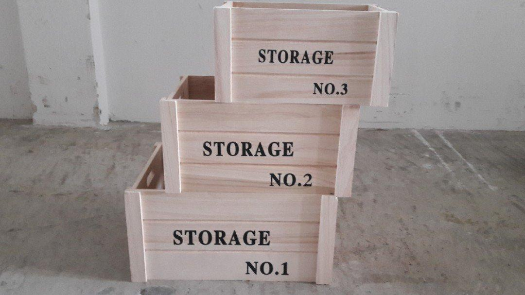 Wooden Storage Box No Cover
