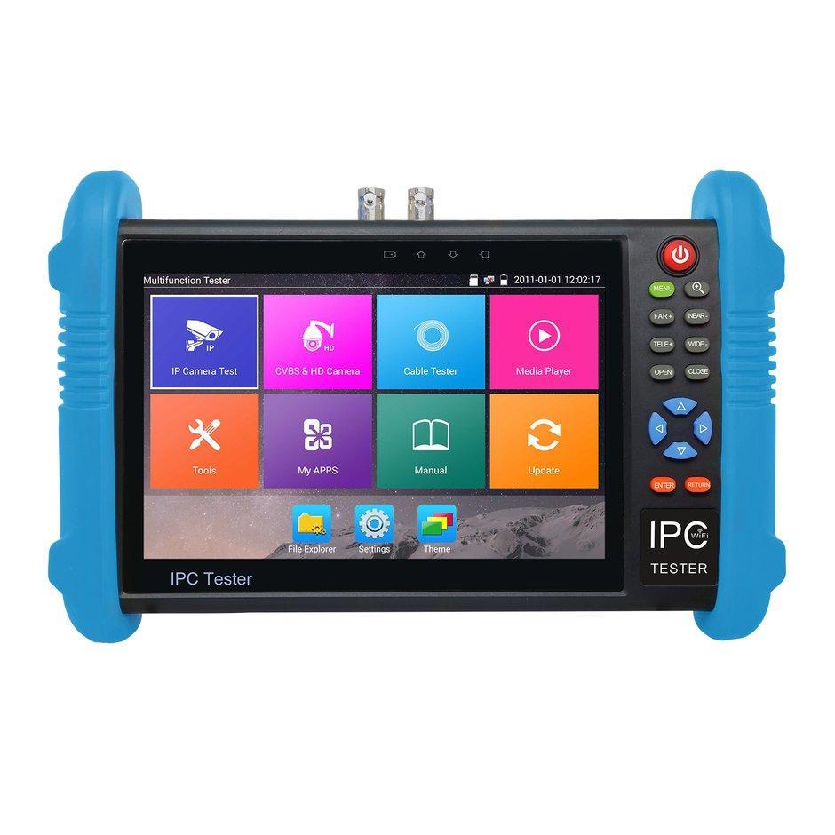 7 Inch IPS Layar H.265 4 K IPC-9800 Plus CCTV Kamera Ip CVBS Tester Analog