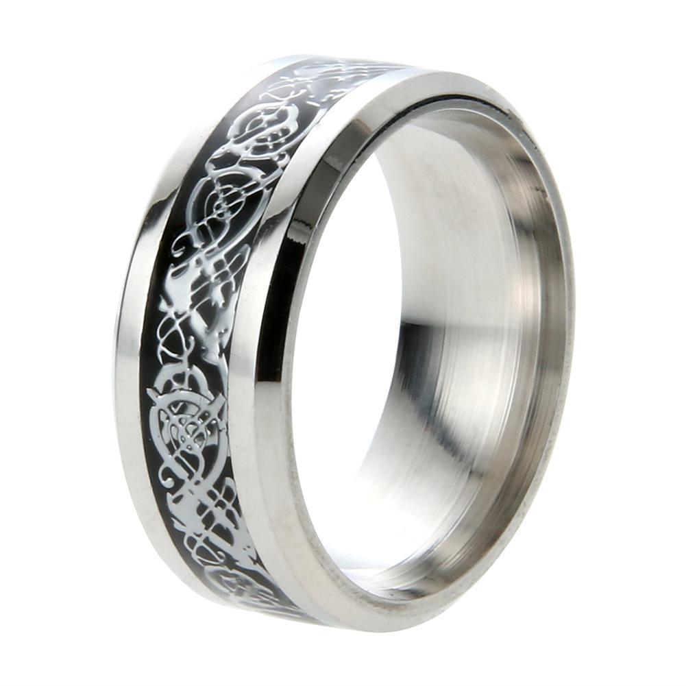 Solid Stainless Steel Ring Band Titanium Men Wedding ...