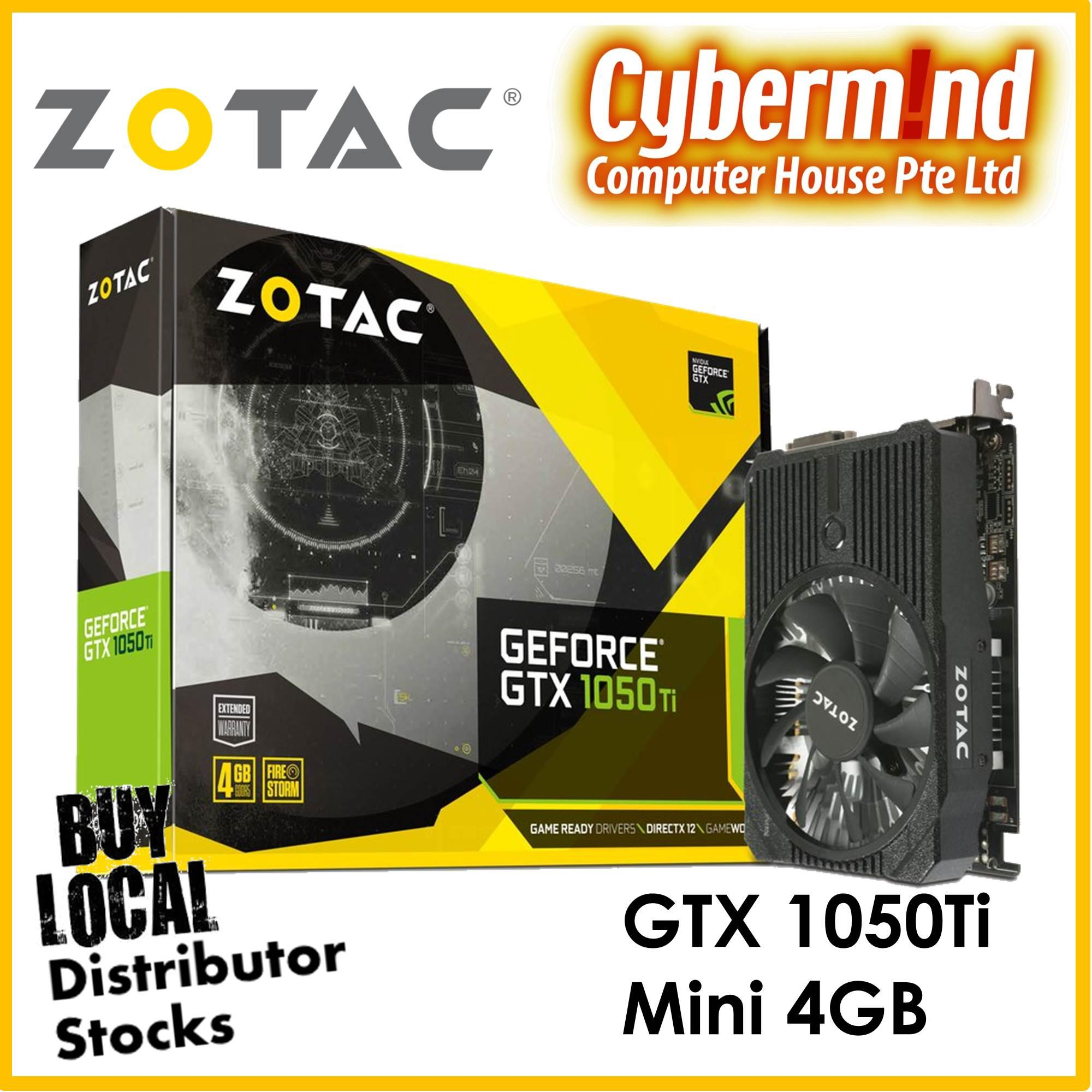 Who Sells The Cheapest Zotac Geforce® Gtx 1050 Ti Gtx1050Ti Gtx 1050Ti Mini 4Gb Gddr5 Brought To You By Cybermind 20Years In Singapore Online