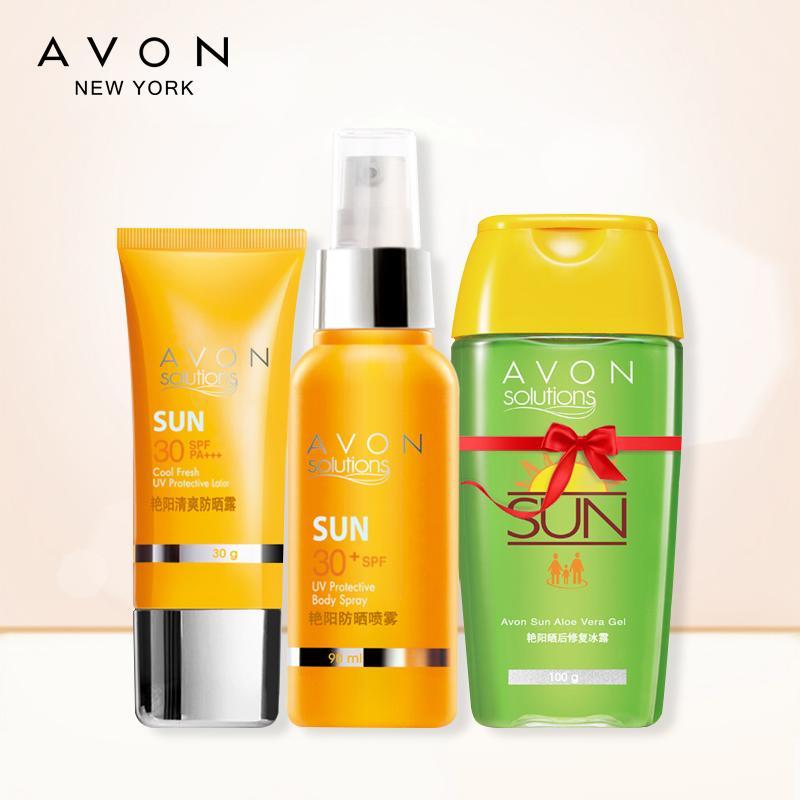 Avon Pelindung Terik Matahari Lu 90 Ml/100G Pelindung Terik Matahari Semprot Memperbaiki Menyegarkan