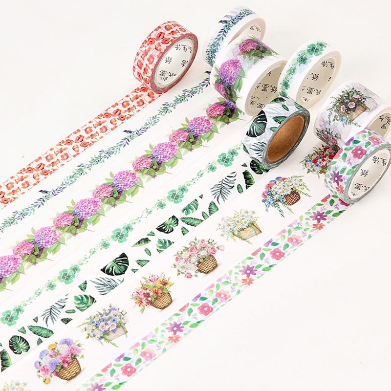 Mua 3rolls 30mm X 5/7m Plants Beauty Flowers Washi Tape DIY Decorative Scrapbook Planner Masking Tape Adhesive Tape Stationery - intl