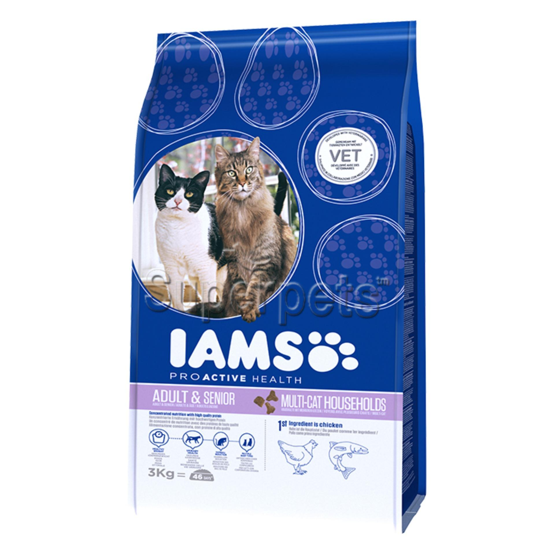 Best Rated Iams Proactive Health Multi Cat Complete *d*lt 1 Years Norwegian Salmon And Chicken 3Kg