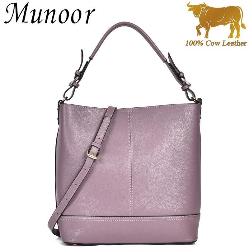 How Do I Get Munoor High Quality 100 Genuine Cow Leather Women Top Handle Tote Bags Beg