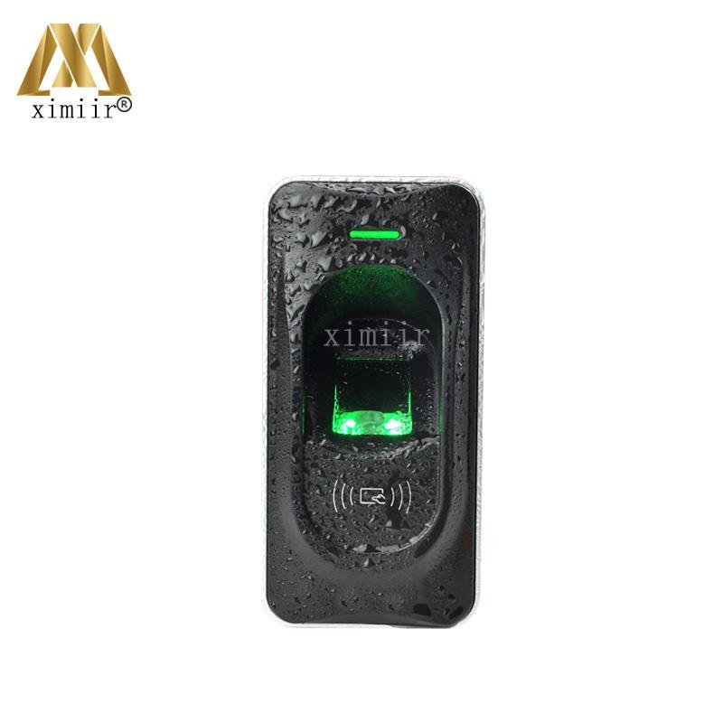 IP65 Waterproof Fingerprint Reader Exit Reader For F18 Access Control System RS485 Fingerprint And RFID Card Reader ZK FR1200