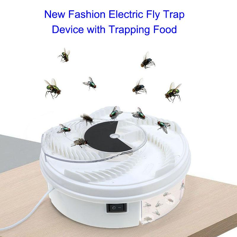 Amart Top Quality Autumatic Electric Fly Trap Device with Trapping Food USB Cable Tool