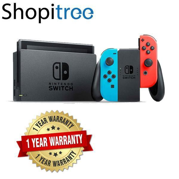 Nintendo Switch Neon Console + 1 Year Local Warranty