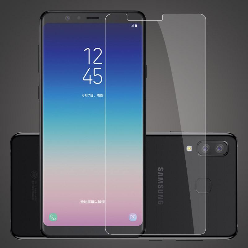 Poluca Tempered Glass Screen Protector Anti Gores Kaca Samsung Galaxy A8 Star - Clear