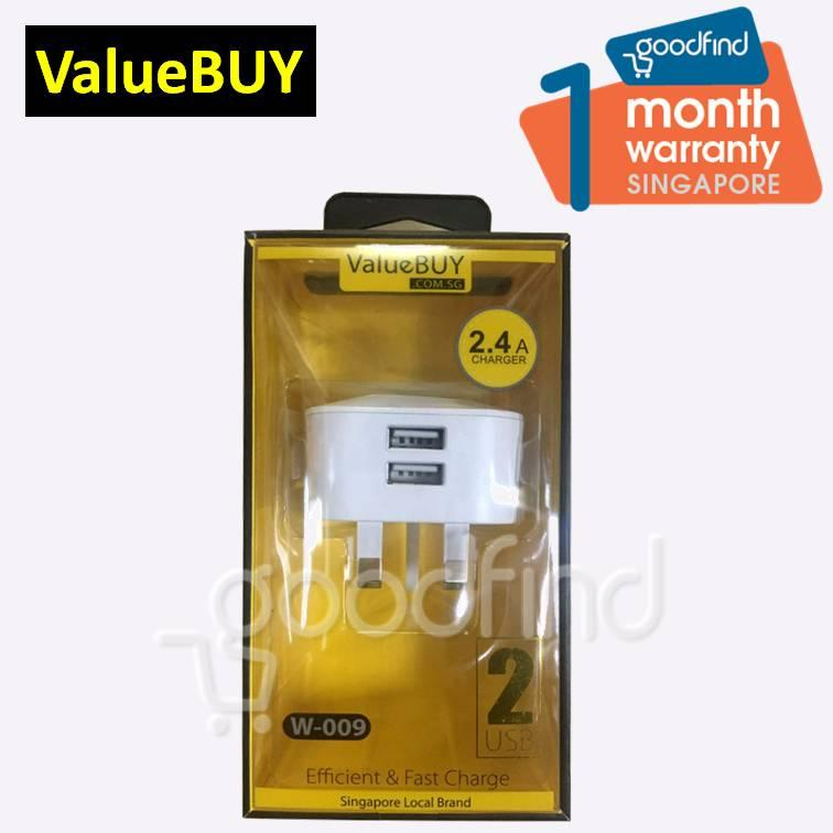 Buy Valuebuy 2 Port Usb Fast Charge Wall Charger Plug With Safety Mark On Singapore