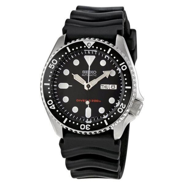 Seiko Automatic Diver Men S Black Resin Strap Watch Skx007K1 Free Shipping