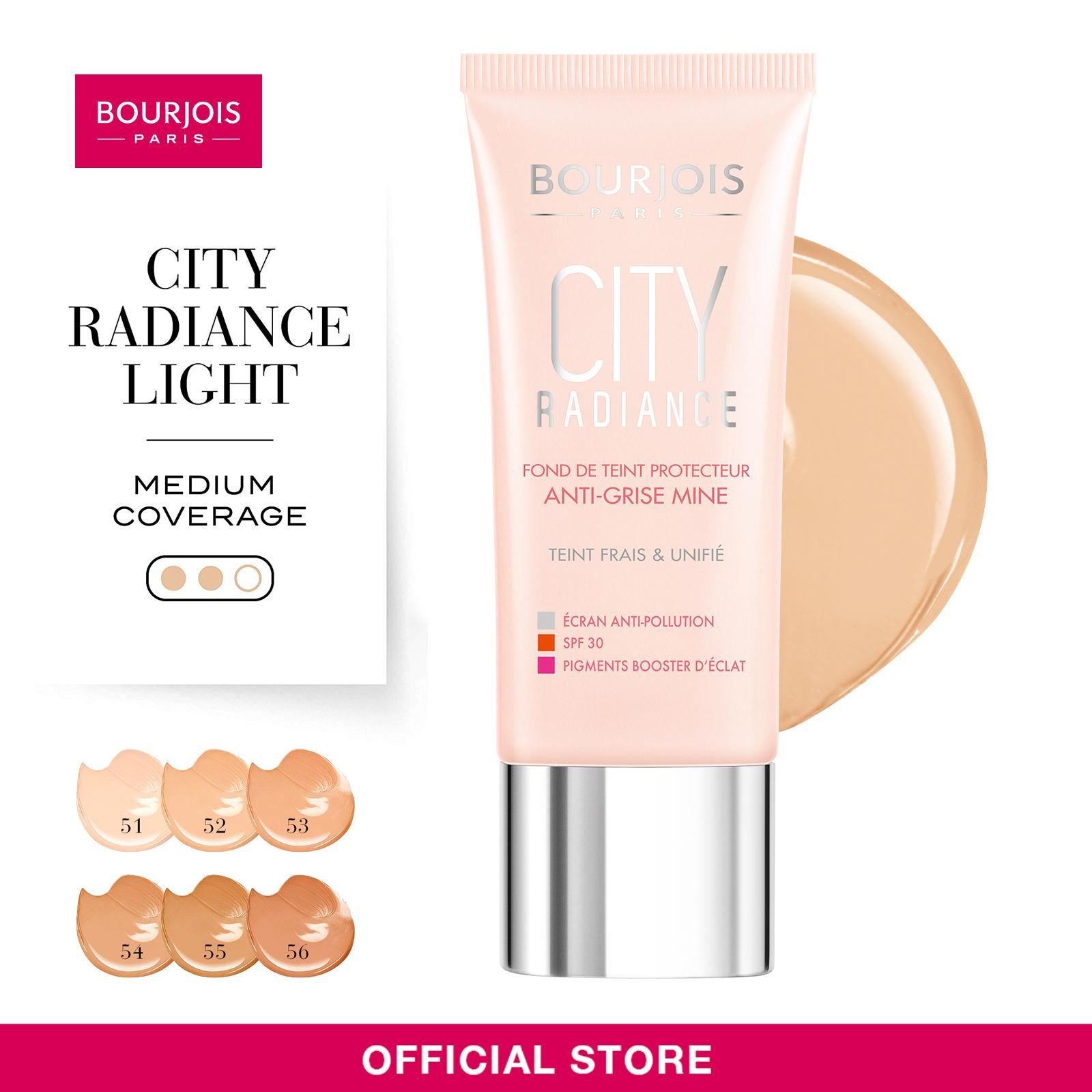 Bourjois City Radiance Foundation [Shades Available: #01| #02 | #03 | #04 | #05 | #06] 30ml