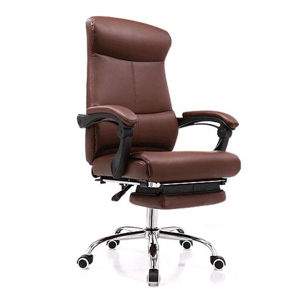 Buy New Pu Leather Recline Office Chair J86 With Legrest Brown Self Setup Delivery Weekdays Before 6Pm Takeaseat Original
