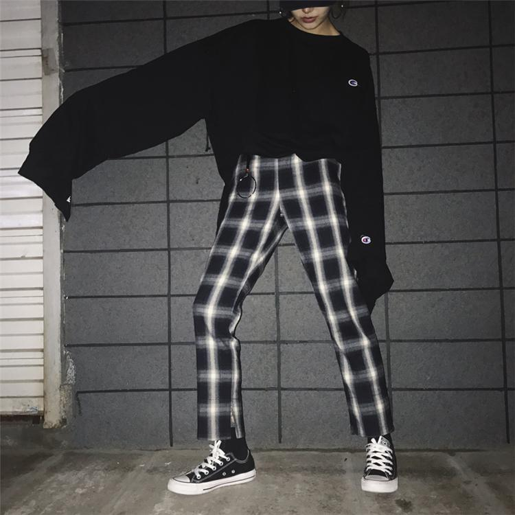 Ulzzang Korean-style spring-summer New style wind casual pants