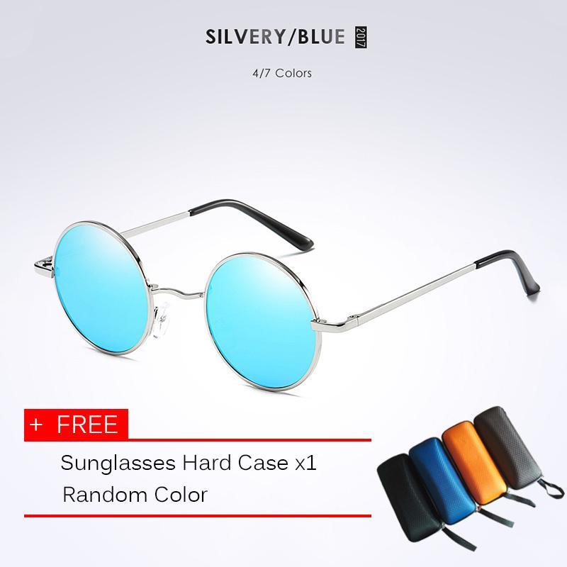 fd5f623e5e79 Bounabay Brand Sunglass Vintage Steampunk polarized sunglasses women brand  designer men sunglass Round Sun glasses men