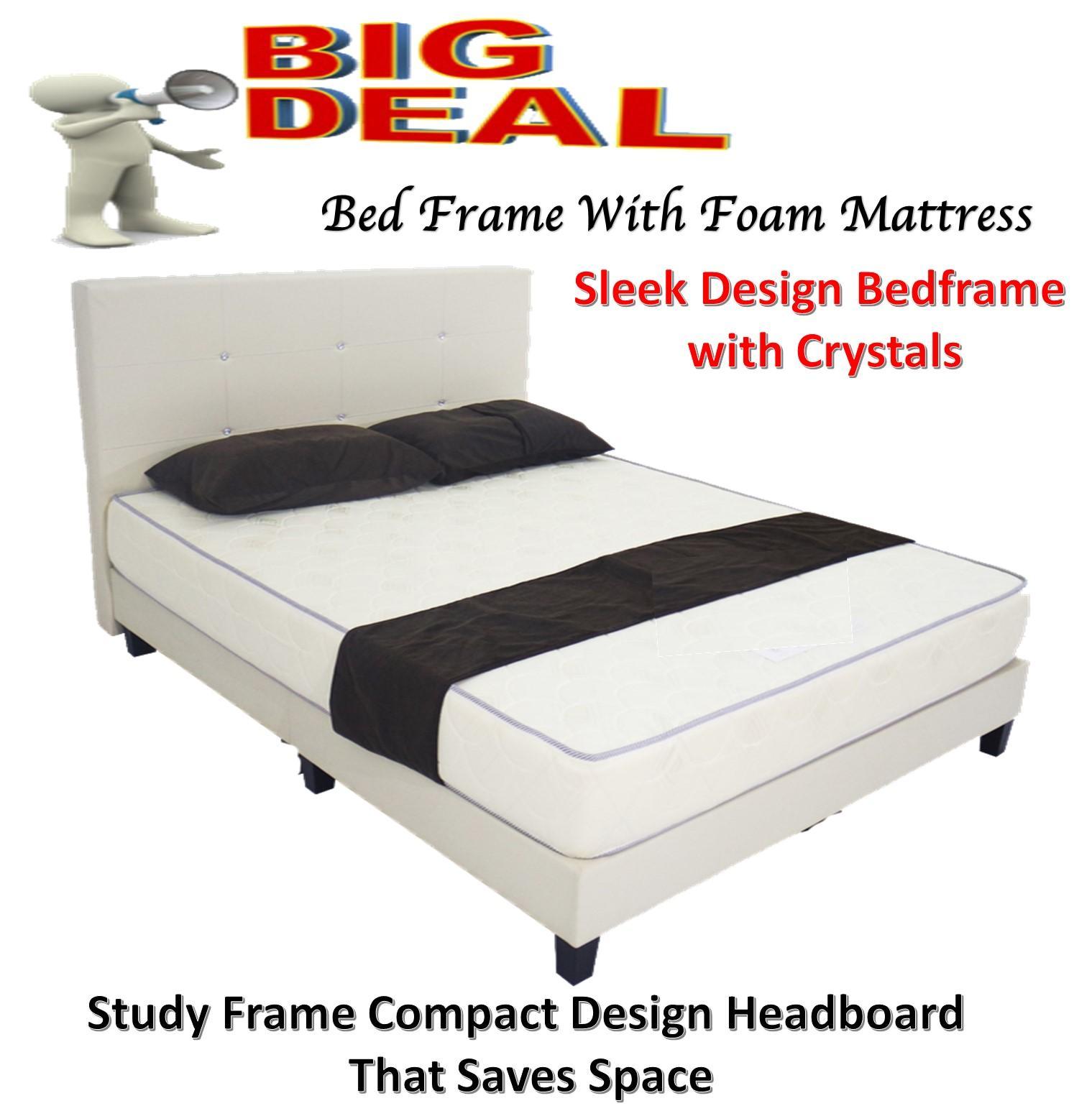 Sleek Bedframe with Foam Mattress