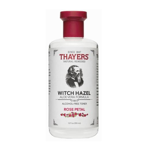 Promo Thayers Witch Hazel Aloe Vera Formula Alcohol Free Toner Rose Petal 12 Fl Oz 355 Ml