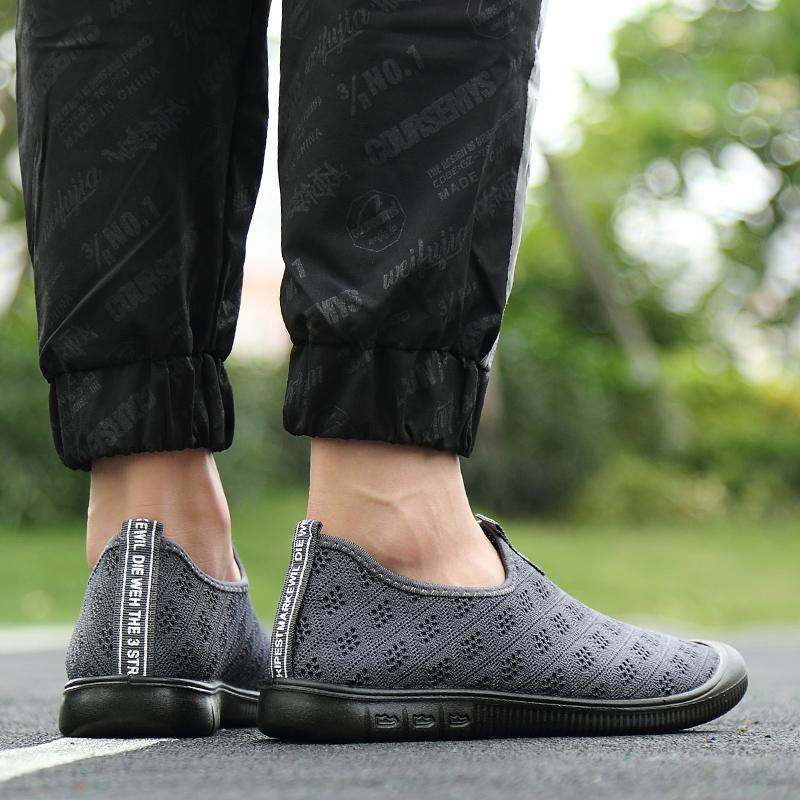 ZNPNXN  Sepatu Mendaki untuk Pria Olahraga Luar Ruangan Bernapas Hiking Tahan Air Jelajah Berkemah Perjalanan Navy Sepatu Gunung Pria Berjalan Pakaian Sederhana Sepatu Sneaker Pria Olahraga -Intl - 4