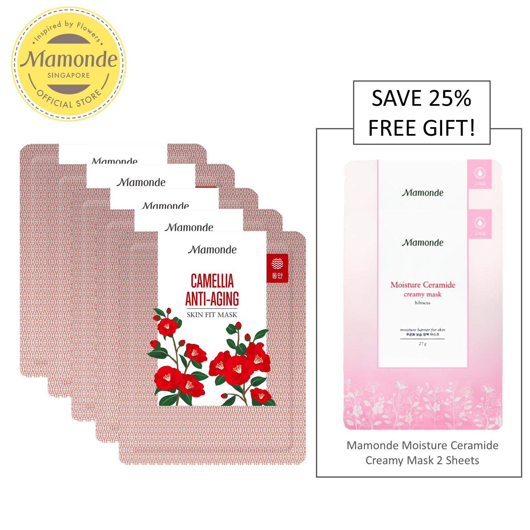 Who Sells Mamonde Skin Fit Mask Camellia Anti Aging 5 Sheets Set Exclusive The Cheapest