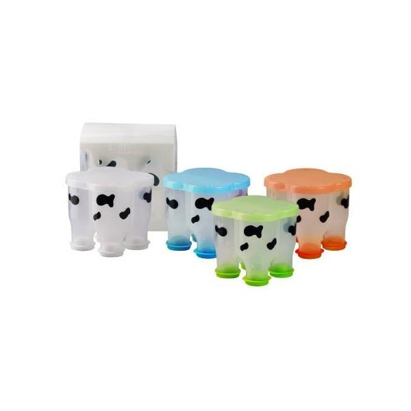 Basilic Cow Shape Milk Powder Dispenser Colourful Baby Feeding Accessories for Travel / Childcare