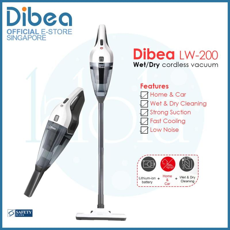 [Official Dibea Singapore] Dibea LW200 Hand-held Cordless Vacuum Cleaner / Wet & Dry Cleaner Singapore