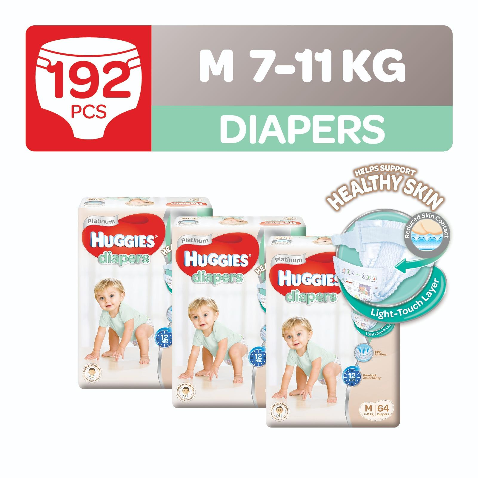 Compare Prices For Huggies Platinum Diapers M 64Pcs X 3 Packs