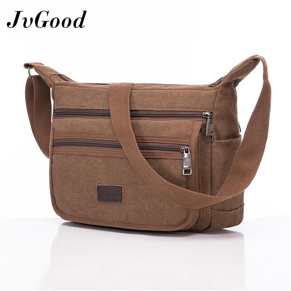 Compare Jvgood Men Messenger Bag Canvas Bag Men Casual Travel Crossbody Bag Male Men S Shoulder Bag Messenger Handle Bag Prices