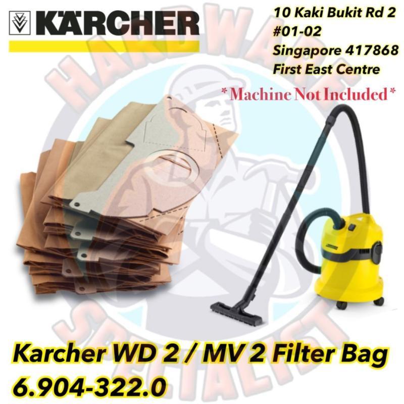 Karcher Wd 2 / MV 2 Vacuum Cleaner Filter Bag 6.904-322.0 Singapore