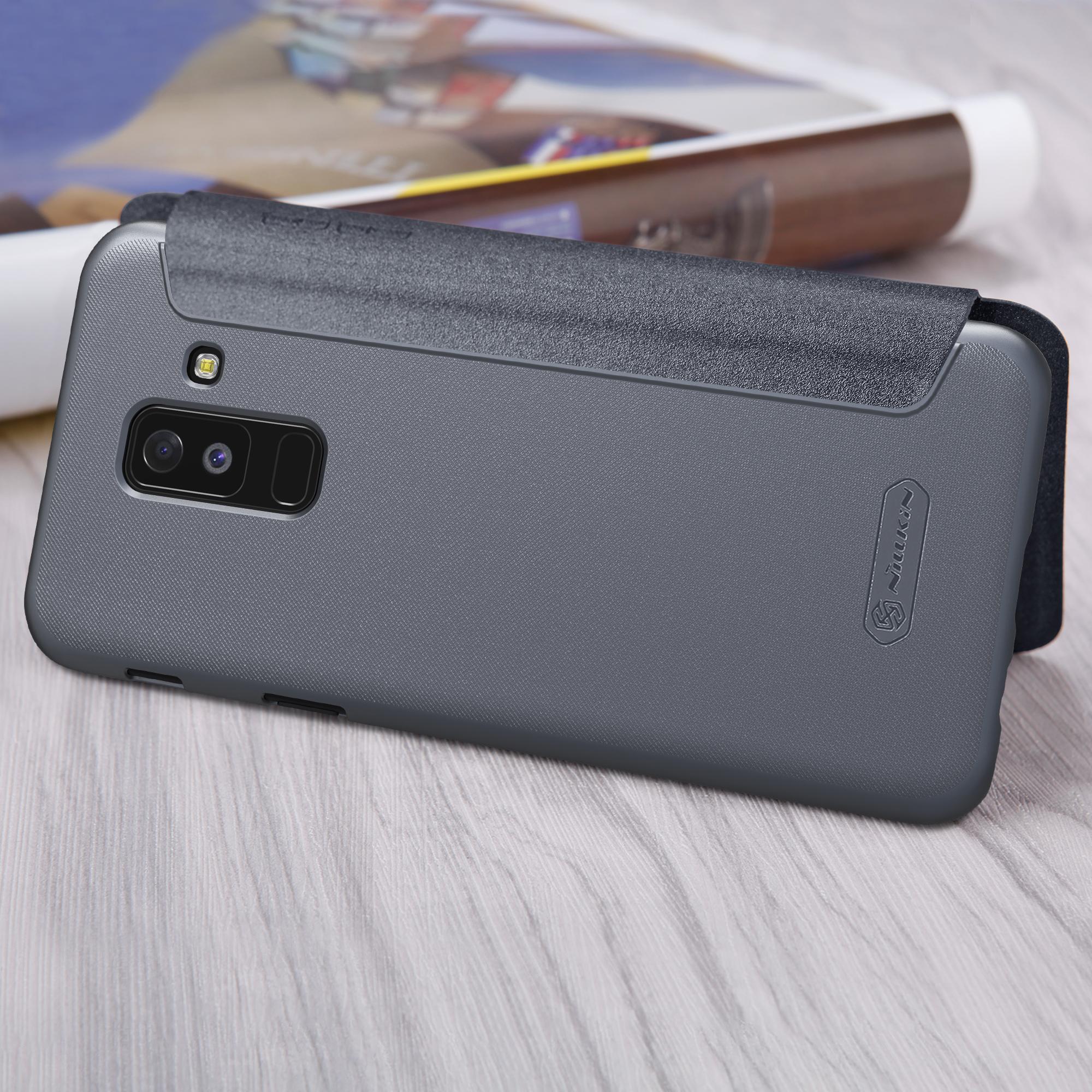 Fitur Samsung Galaxy A6 Plus 2018 Nillkin Sparkle Flip Case Dan