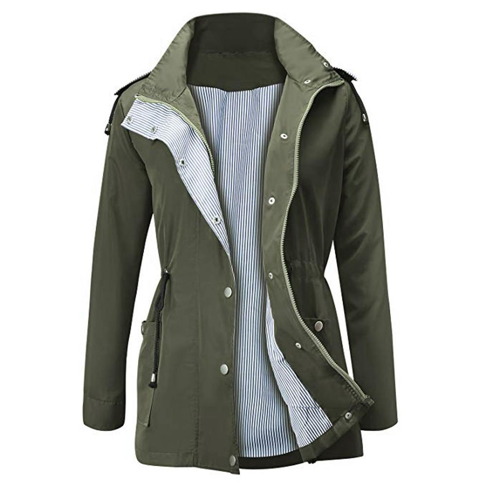 5552b95b8f81 ... Winter Jackets   Coats. Aiipstore Raincoats Waterproof Lightweight  Jacket Active Outdoor Hooded Women s Trenchcoat