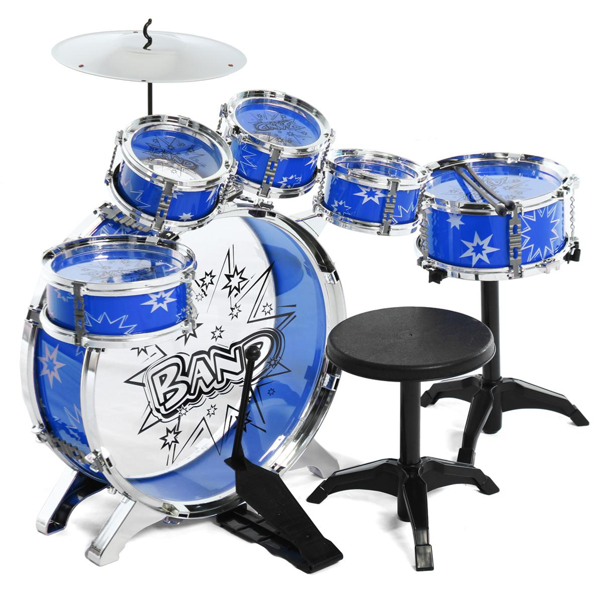 Where Can I Buy Kids Children Junior Drum Set Drums Kit Percussion Musical Instrument With Cymbal Drumsticks Adjustable Stool Intl