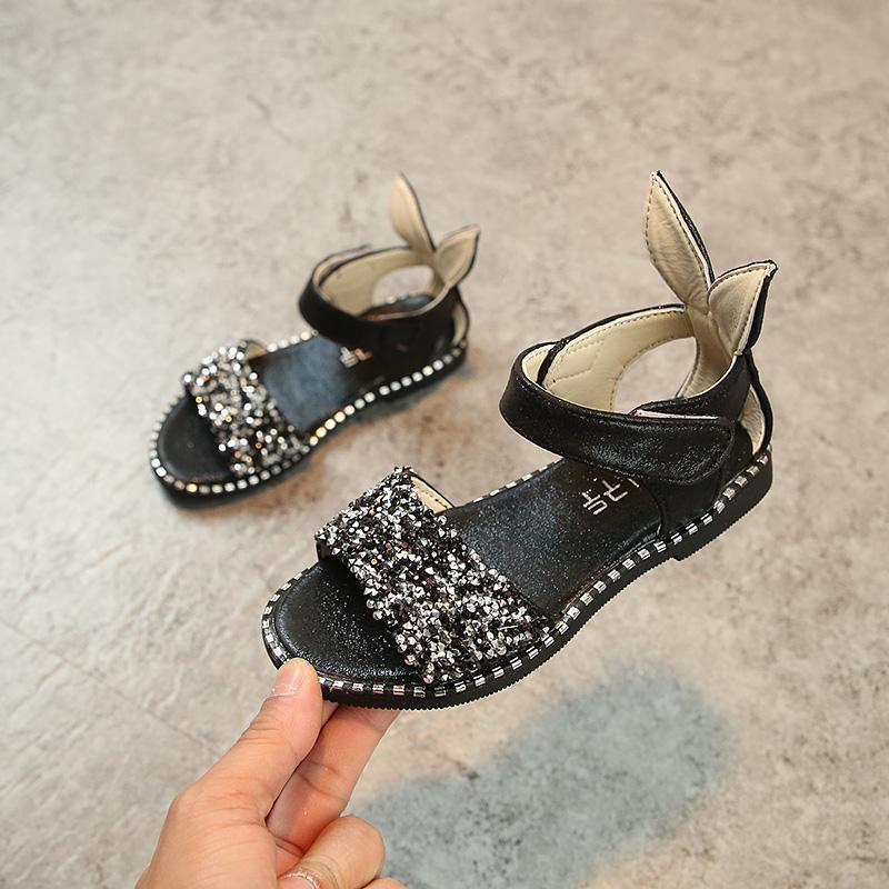 2018 Musim Panas Model Baru Anak-anak Sandal Summer Anak Prempuan Sepatu Bayi Paillette Batu