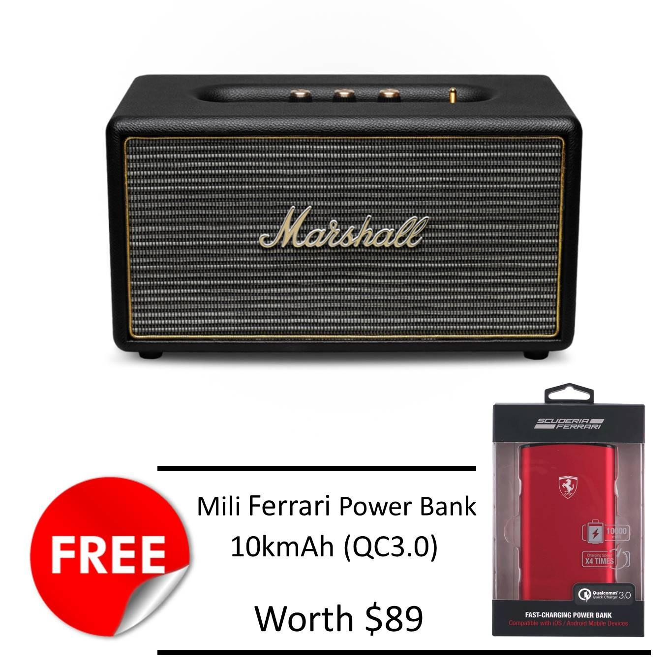 Price Comparisons Of Marshall Stanmore Bluetooth Speaker Black Free Mili Ferrari 10Kmah Powerbank