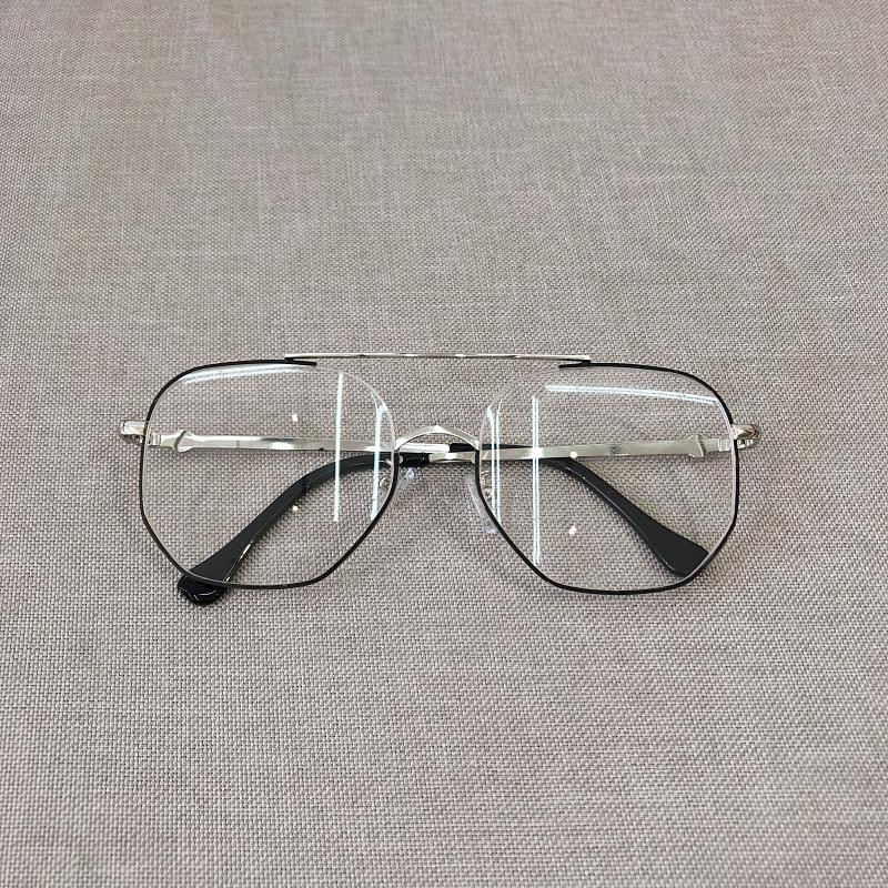 e6d5af8cbb2 Vintage Spectacle Frame Men And Women Korean Style Metal Large Box Fashion  round Face Plain Glasses
