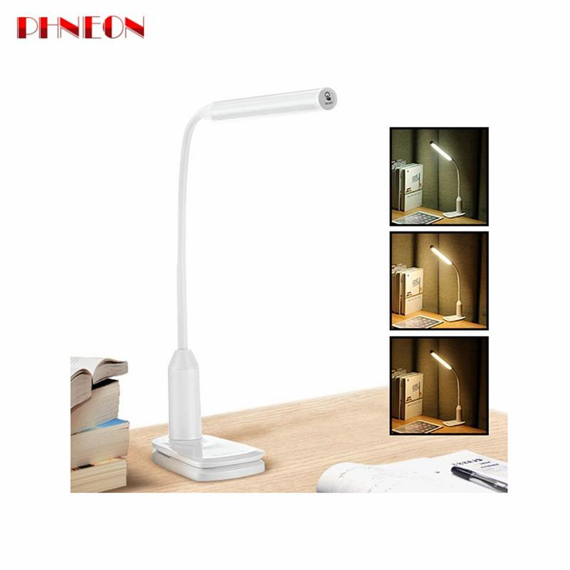 PHNEON Arilux Al-tl02 Flexible 6w Led Table Lamp Usb Rechargeable Touch Dimmable Reading Led Desk Lamp Clip On Clamp Light