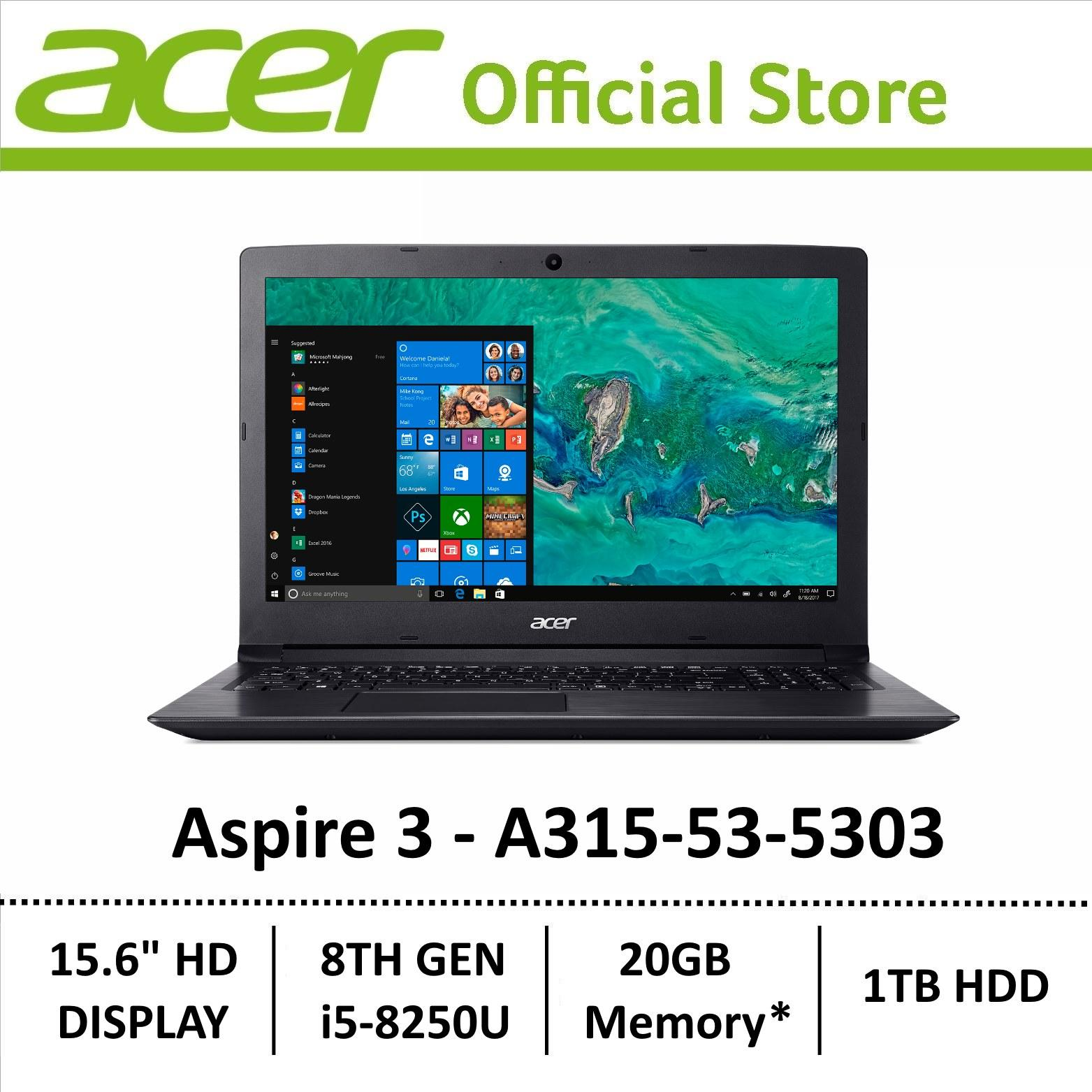 Acer Aspire 3 A315-53-5303 8th Gen Core i5 with Intel Optane Memory Laptop