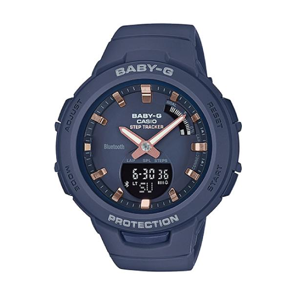 Casio Baby-G G-SQUAD Bluetooth® Navy Blue Matte Resin Band Watch BSAB100-2A BSA-B100-2A Malaysia