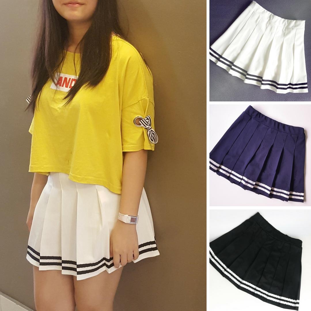 Top 10 Navy Style Tennis Skirt Pleated Skater Skirt Skort